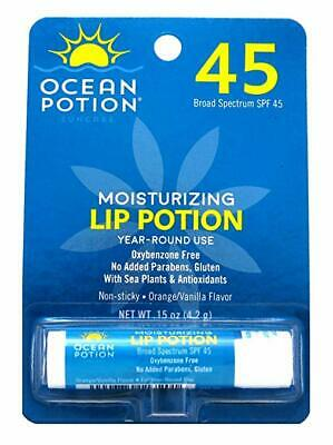 Ocean Potion Moisturizing Lip Potion - SPF 45 Orange-Vanilla - 0.15 oz - Ocean Potion Moisturizing Lip Potion Spf 45