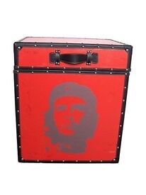 LARGE RED CHE GUEVERA STORAGE TRUNKS