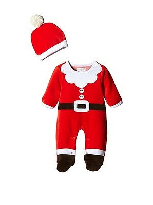 CUTE BABY FATHER CHRISTMAS SANTA OUTFIT SLEEPSUIT BABYGROW WITH HAT - Cute Santa Outfits