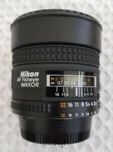 Nikon Nikkor 16mm f2.8D Fisheye lens w/ adapter - Sony A7 series