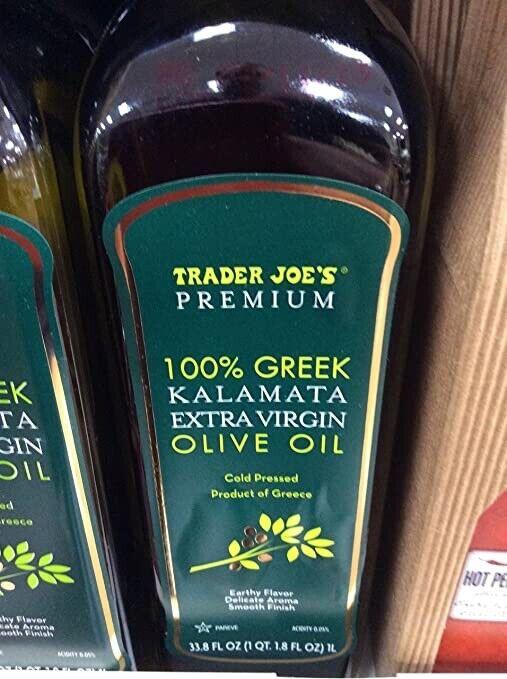 Trader Joes Premium 100% Greek Kalamata Extra Virgin Olive Oil Cold Pressed 33oz