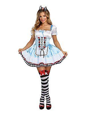 Dreamgirl Beyond Wunderland Alice Hase Erwachsene Damen Halloween Kostüm 10668 (Erwachsene Hase Halloween Kostüm)