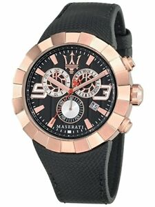 Brand New Maserati Tridente Mens Watch in Rose Gold