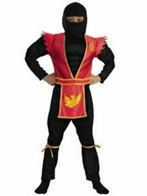 Phoenix Shadow Ninja Deluxe Kid's Halloween Costume, Black and Red - Black Shadow Costume