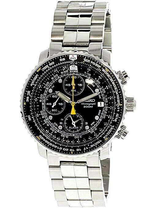 Seiko Flight Alarm SNA411 Chronograph Watch