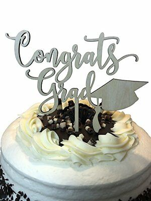 Congrats Grad Graduation Cake Topper - Class of 2018 Graduate Party High School](High School Graduation Party Decorations)