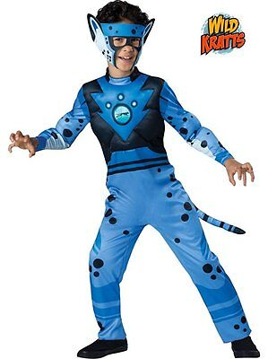 Wild Kratts Costumes (Incharacter Wild Kratts Deluxe Cheetah Blue Boys Halloween Costume)