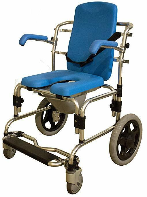 Platinum Health Baltic Professional Transport Shower Commode Toilet Padded Chair