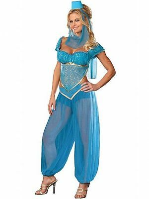Sexy Princess Jasmine Costume,Belly Dancer Fancy Dress Genie Hen Party (Sexy Jasmine Kostüm)