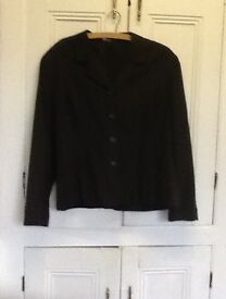 Vintage Laura Ashley Ladies Jacket in charcoal grey, size 18