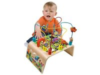 Alex Toys Jr. Busy Bead Maze Race Around Baby Wooden Developmental Toy New in Box
