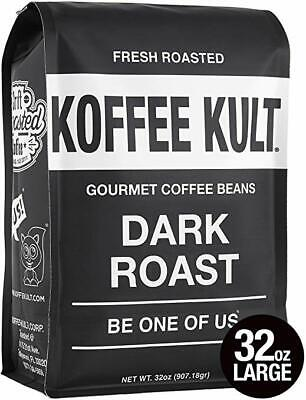 Gourmet Dark Roast Coffee - Koffee Kult Dark Roast Coffee Beans - Highest Quality Gourmet - Whole Bean Coffe