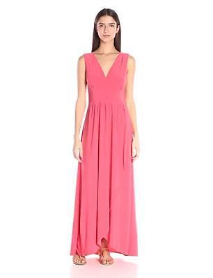 Star Vixen Womens Sleeveless Surplice Tulip Skirt Empire Band Maxi Dress MED NWT