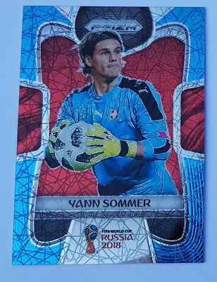 PANINI WORLD CUP PRIZM 2018 LIMITED YANN SOMMER NO 248 BLUE LAZER 006 125