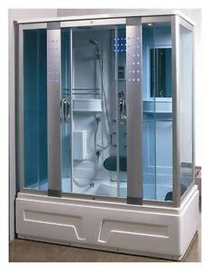 Box doccia idromassaggio vasca sauna arredo bagno turco cabina radio pc ita ebay for Box doccia sauna bagno turco