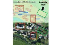 Plot finding. Help to find garden plots potentially suitable for self building.