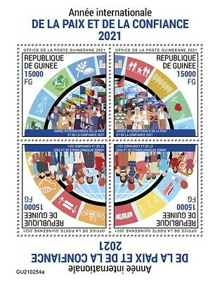 Guinea 2021 MNH United Nations Stamps International Year of Peace & Trust 4v M/S