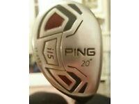Ping i15 20 degree hybrid tour stiff UST axivcore shaft
