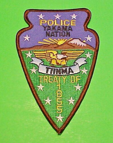 "YAKAMA NATION WASHINGTON TREATY OF 1855 TRIBAL 5 1/4"" POLICE PATCH FREE SHIPPING"