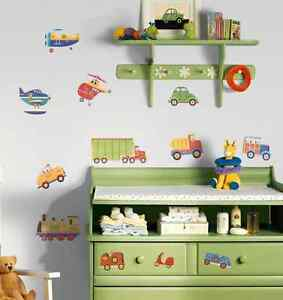 Transportation Peel & Stick Wall Decals - NEW