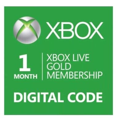 1 Month Xbox Live Gold Membership Code   Only Email Delivery  30 Minutes