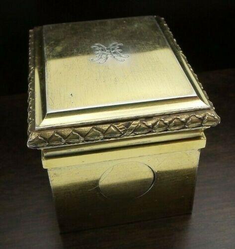 Rare Heavy Antique 1900s GUSTAVE KELLER France Gilt 950 Silver Travel Inkwell
