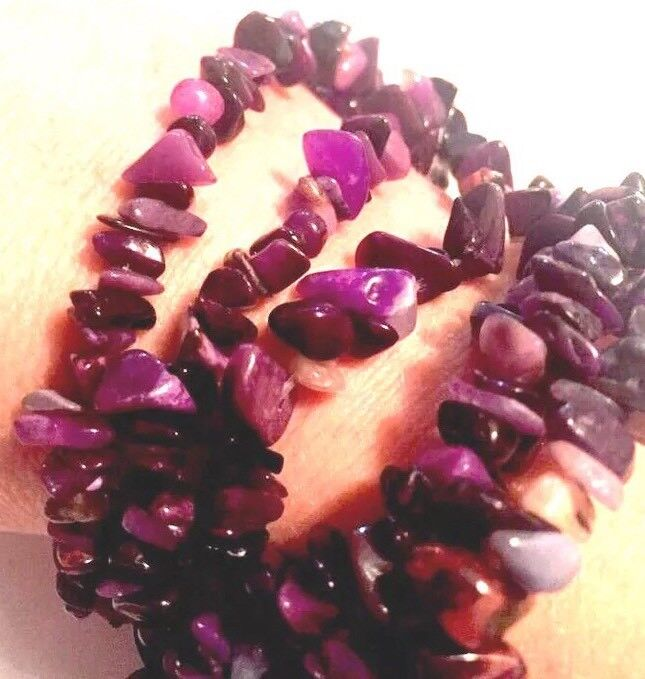 SUGILITE Beads Strand Necklace Africa Natural Gemstone Chips Tumbled Polished A+
