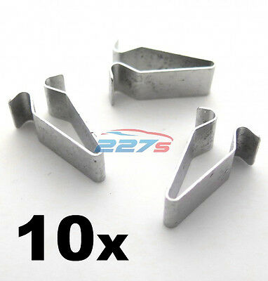 10x Metal Spring Trim Clips for Audi Boot & Trunk Lining- 22mm Long 4A0867276