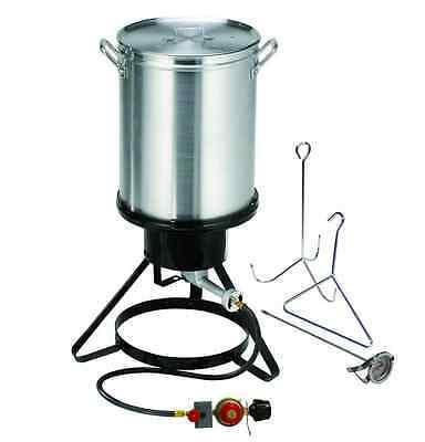 Propane Gas Outdoor Turkey Deep Fryer Pot Burner Masterbuilt Large 30 Quart -
