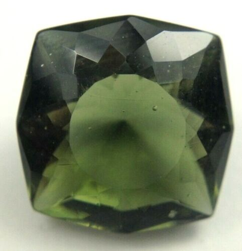 3.15 carat, 10 x 10mm cushion square beautiful moldavite,#15386