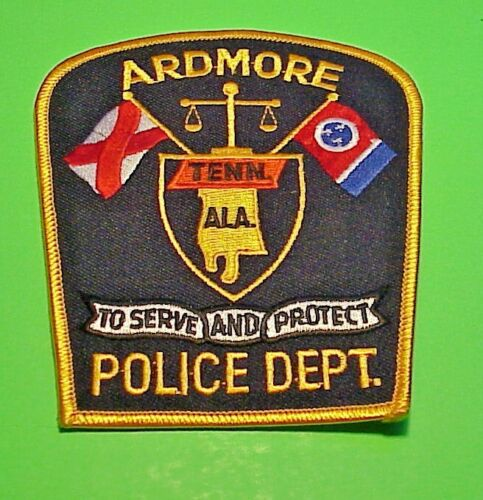 "ARDMORE  TENNESSEE / ALABAMA  4 1/2""  POLICE PATCH  FREE SHIPPING!!!"