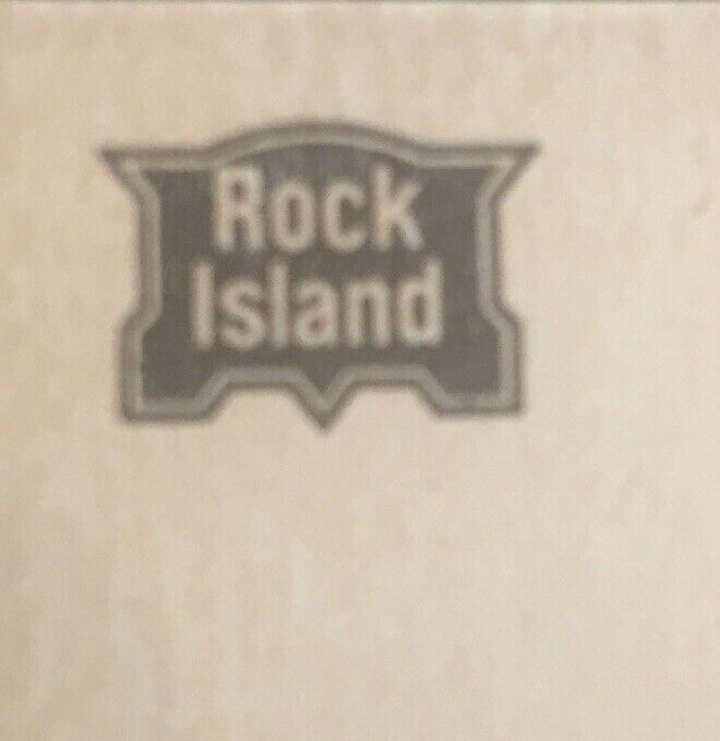 ROCK ISLAND CHICAGO PACIFIC Freight Railroad Vtg Business Card NYC