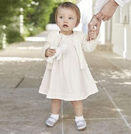 BRAND NEW, UNWORN - Size 12-18 months, Silk Smocked Dress from The White Company