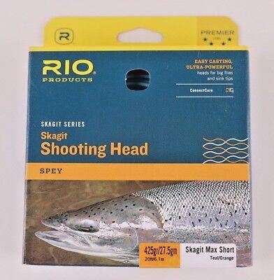 Rio Skagit Short Head - Rio Skagit Max Short 425 Grain Shooting Head Free Fast Shipping 6-20989