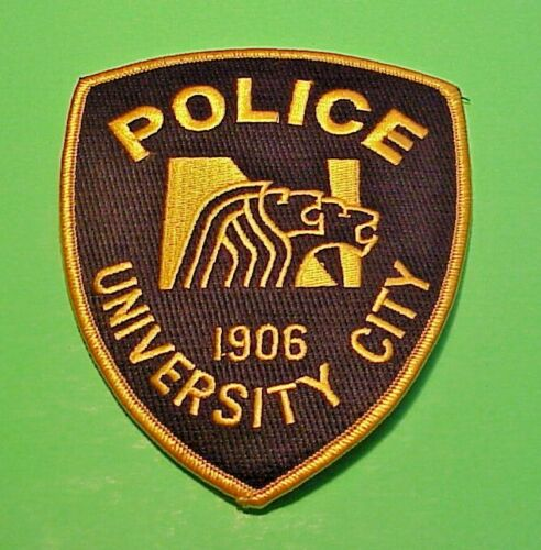 "UNIVERSITY CITY  MISSOURI  1906  MO  POLICE PATCH  5""  FREE SHIPPING!!!"