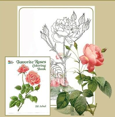 Adult Coloring Books For Women Men Kids Flowers Drawing Roses Painting Art - Kids Coloring Books