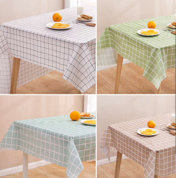 100% Polyester Spillproof Tablecloths for Rectangle Tables O
