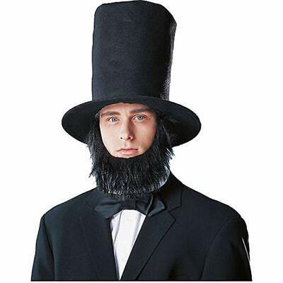 Kostüm Culture President Abraham Lincoln Hat Bart Halloween - Schwarzer Lincoln Hat