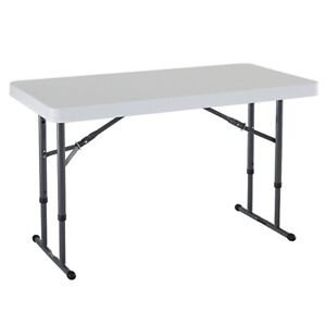 Lifetime 4-Foot Commercial Adjustable Height Folding Table