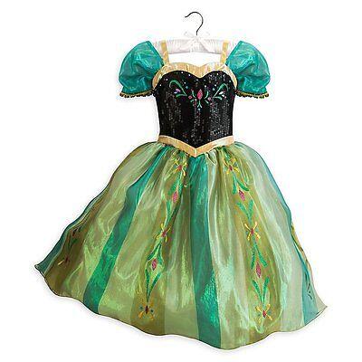 Disney Store Frozen Princess Anna Coronation Costume Dress Up Girls 7/8 9/10