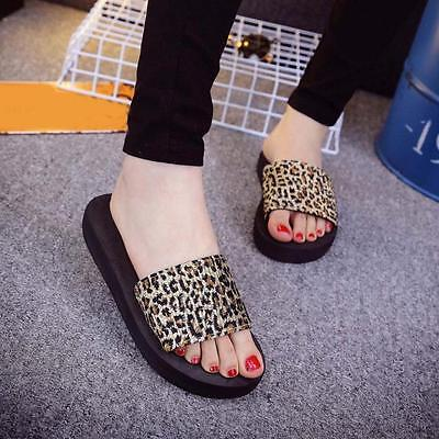Women Summer Leopard Print Shoes Sandals Slipper Leisure Simple and comfortable
