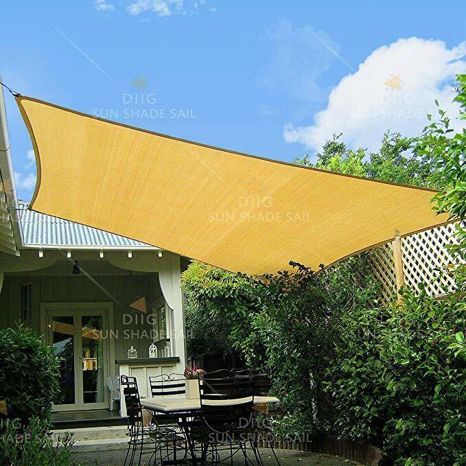 Sun Shade Sail Canopy Rectangle Sand Uv Block Sunshade For B