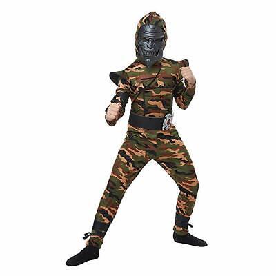 Desert Camo Ninja Boy's Camouflage Halloween Costume - - Camo Ninja Kostüme