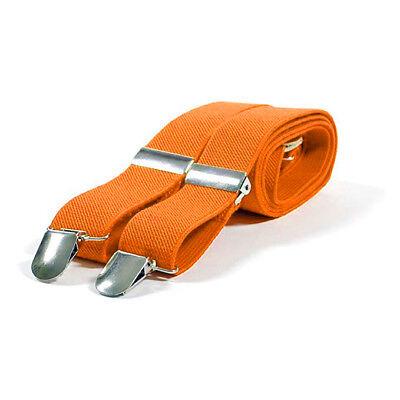 Hosenträger Neon Orange Herren Damen Hosen Träger Y Form Style Clips Suspenders