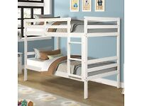 ☀️💚☀️BEAUTIFUL DESIGN☀️💚☀️SINGLE-WOODEN BUNK BED FRAME w OPT MATTRESS- GRAB THE BEST