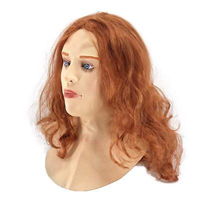 Cosplay Human Realistic Scarlet Female Woman Face Crossdressing Sissy Latex - Female Masks