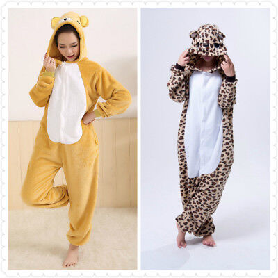 Leopard Bär Rilakkuma Onesiee Kigurumi Kostüm Kostüm Kapuze - Rilakkuma Kigurumi Kostüm