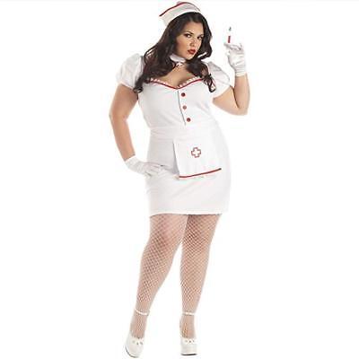 Plus Size Sexy Head Naughty Nurse Natasha Womens Adult Mini Dress 3XL Size 18-20 - Plus Size Naughty