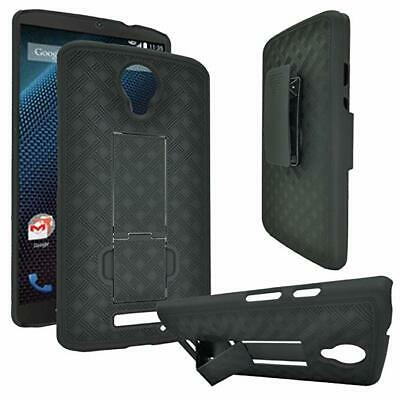 Motorola Droid Turbo 2,Moto X Force ,Xt1585 Belt Clip Shell Holster Kickstand