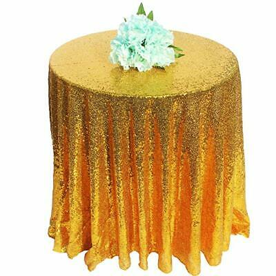 Glitter Table Cloth (Round Glitter Sequin Tablecloths Wedding Event Party Table Cloth Cover)